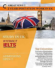 Study in UK Without IELTS for Indian Students | Apply Now for 2020 Intake