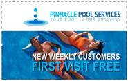 New weekly customers can get two free visits from Pinnacle Pool Services