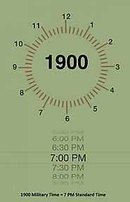 1900 Military Time - Steps to Convert 7 PM to Zulu Time
