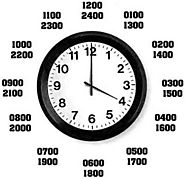 1600 Military Time-Convert 4PM in Zulu Time Using Time Chart