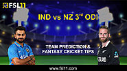 New Zealand vs India 3rd ODI: Match Preview, Pitch Report, Weather Report, Probable Line-ups, and Match Prediction