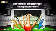 How to Create and Play Cricket Fantasy League Online? - Fsl11 Blog