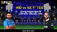 New Zealand vs India 1st Test: Match Preview, Pitch Report, Weather Report, Probable Line-ups, and Match Prediction