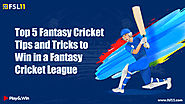 Top 5 Fantasy Cricket Tips and Tricks to Win a Fantasy Cricket League - Fsl11 Blog