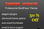 Theme Junkie Coupon code 2014 - 50 % discount