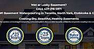 Basement Waterproofing in Toronto - Keep Your Basement Safe & Secure
