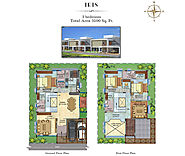 Urban Ville Floor Plan | Villas Floor Plan Sarjapur - Krk Ventures