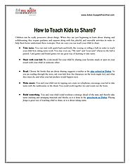 How to Teach Kids to Share?