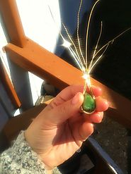 Tsavorite Pendant in the making with 14K Gold filled wire