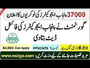 Punjab Educators jobs 2019 - PPSC 37,000 Jobs Approval Announcement