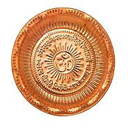 Buy Copper Thali plate at low cost with Ashtok