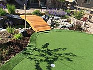 Want to turn your backyard into an oasis with a fake turf putting green?