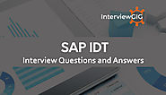 SAP IDT Interview Questions and Answers | InterviewGIG