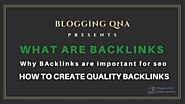 what is backlink in seo? importance of backlinks and How to Create Backlinks