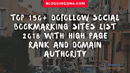 Top 150+ DoFollow Social Bookmarking Sites List 20 With High Page Rank and Domain Authority
