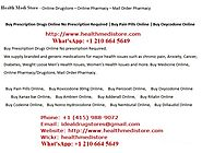 Buy Prescription Drugs Online without Prescription at healthmedistore.com