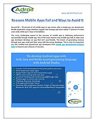 Reasons Mobile Apps Fail and Ways to Avoid It