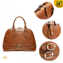 Women Brown Retro Leather Bags CW319232 - CWMALLS.COM
