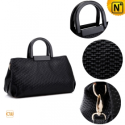 Women Black Leather Tote Handbags CW319296 - CWMALLS.COM