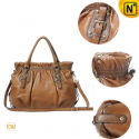 Women Brown Cowhide Leather Handbags CW300101 - CWMALLS.COM