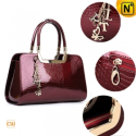 Women Red Leather Tote Handbags CW301316 - CWMALLS.COM