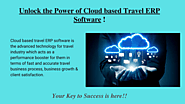 Cloud based travel ERP software- iTours
