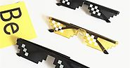 Funny Tricks Glasses 8 Bit Pixel Deal With IT Mosaic Sunglasses - Secret Shopping Stuff