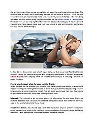 Tips to Find The Right Smash Repair Company for Your Car
