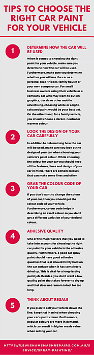 Tips To Choose The Right Car Paint For Your Vehicle | Visual.ly