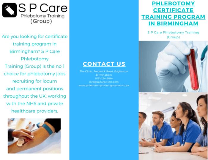 phlebotomy training program certificate birmingham care