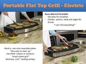 Top Electric Portable Flat Top Grill