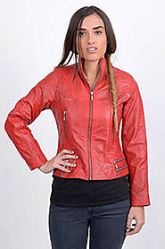 Top Class Women Leather Jacket | Low Price Women Stylish Leather Jacket