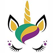 Mardi Gras Unicorn svg cut file | Mardi Gras Unicorn vector download