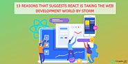 13 Reasons that suggests React is taking the Web Development world by storm