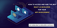 How to access and hire the best ReactJS Developer for App Development | Chapter 247