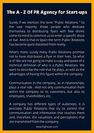 The A - Z Of PR Agency for Start-ups by amritawalia21 - Issuu