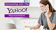 Connecting with the yahoo representative