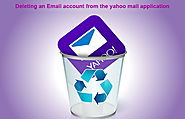 Deleting an Email account from the yahoo mail application