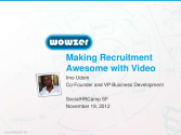 How to Make Recruitment Awesome with Video