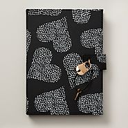 Dotted Heart Diary with a Lock