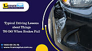 Typical Driving Lessons about Things TO DO When Brakes Fail
