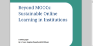Beyond MOOCs: Sustainable Online Learning in Institutions