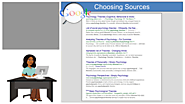 Choosing the Best Sources and Evidence | Ashford Writing Center