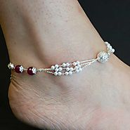 Website at https://www.silverwithsabi.com/anklet/White-Pearl-Silver-Anklet-Design/74