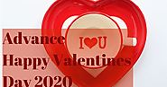 Romantic Advance Happy Valentines Day 2020 Quotes, status, Messages For Him and Her