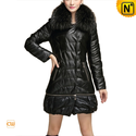 Down Filled Women Coat with Raccoon Fur Collar CW630331