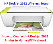 How to Connect HP Deskjet 2652 Printer to Home Wifi Network - Printer Wireless Setup