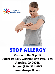"""STOP ALLERGY"" – Contact Dr. Orpelli"