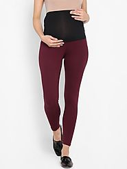 "The ""Maroon"" Leggings – MomSoon Maternity and Nursing Wear"