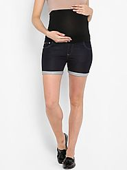 Momsoon Maternity Denim Shorts – MomSoon Maternity and Nursing Wear